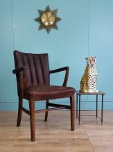 English leather desk chair - SOLD